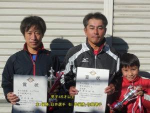 第38回シングルス大会男子45才優勝者