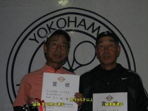 第37回シングルス大会男子65才優勝者