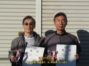 第38回シングルス大会男子65才優勝者