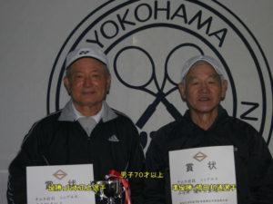 第37回シングルス大会男子70才優勝者