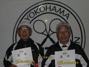 第37回シングルス大会男子75才優勝者