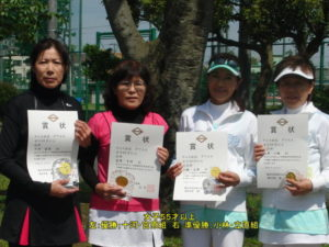 第66回ダブルス大会女子55才優勝者