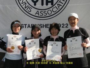 第66回ダブルス大会女子60才優勝h社