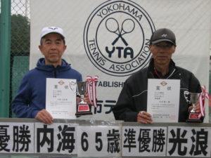 第43回シングルス大会男子65才優勝者