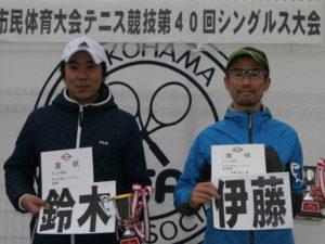 第40回シングルス大会男子40才優勝者