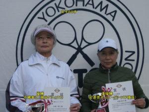 第41回シングルス大会60才女子優勝者